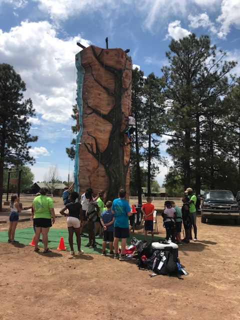 Large rock wall for rent in climbing adventures phoenix